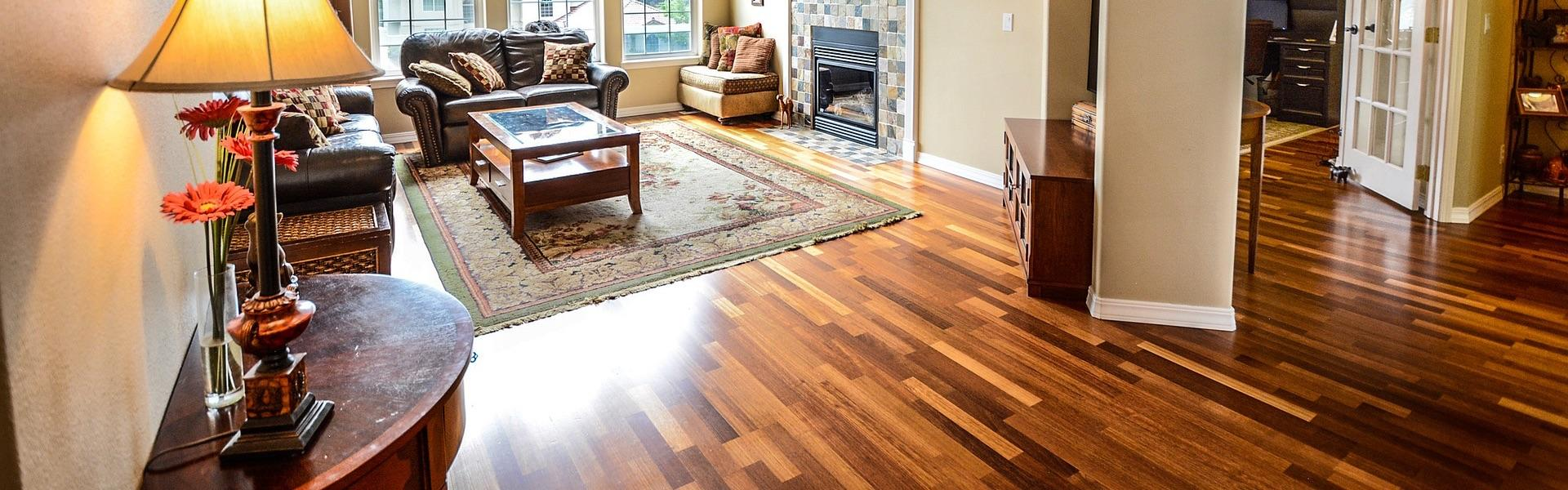 Wood flooring in modern home